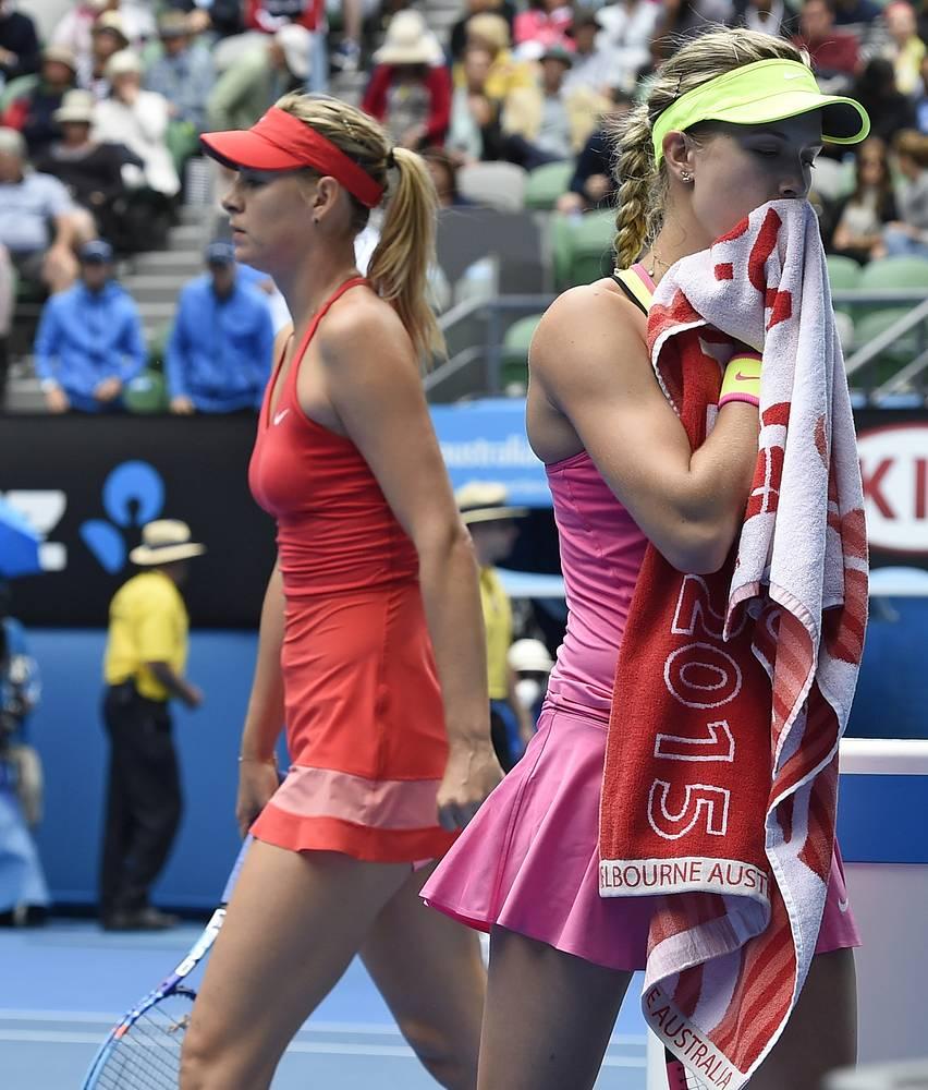Мария Шарапова выиграла у Эжени Бушар (Канада) в 1/4 финала со счетом 6:3, 6:2