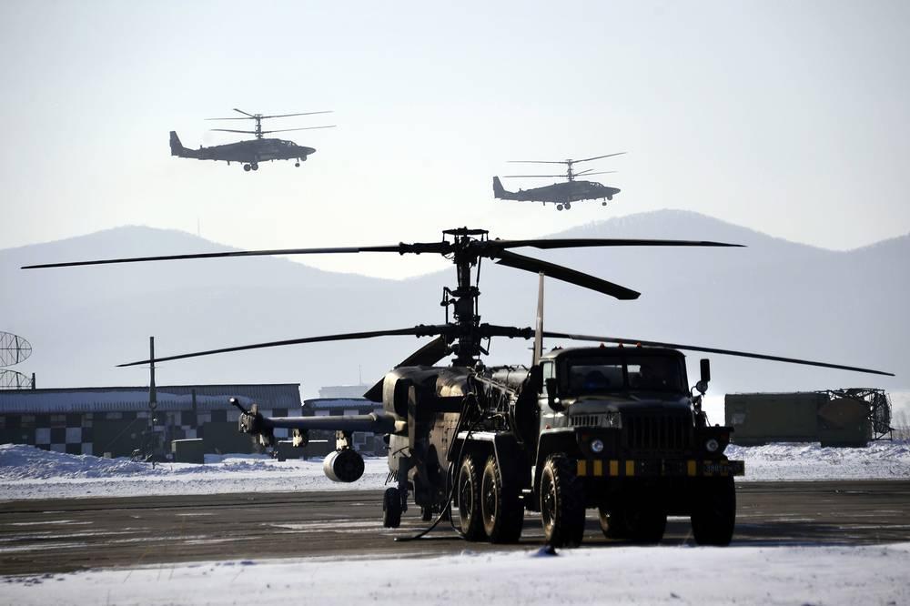 """Приморский край. Вертолет Ка-52 """"Аллигатор"""" на Черниговской авиабазе"""
