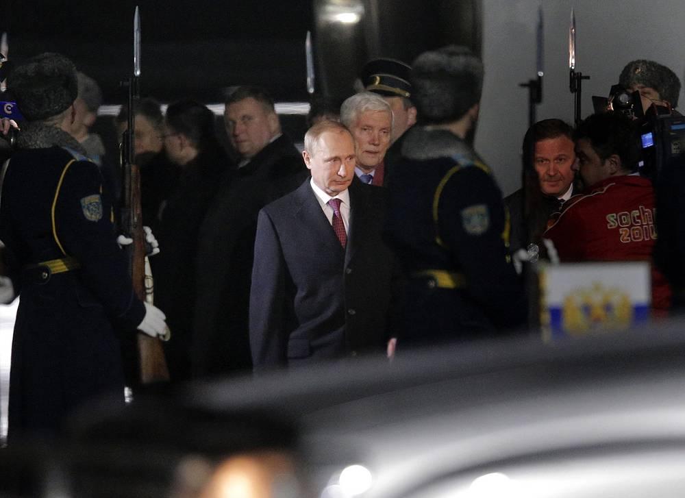 Позднее к ним присоединился президент РФ Владимир Путин