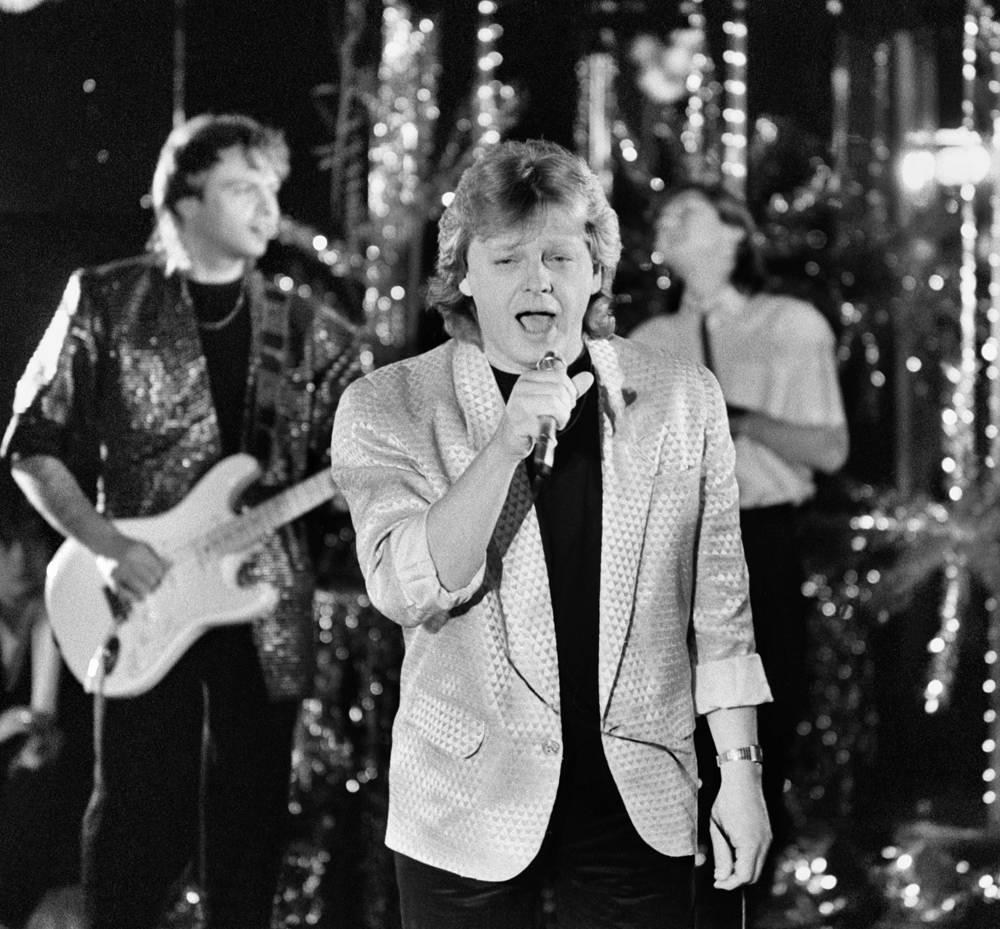 """На съемках телевизионной передачи """"Новогодняя ночь"""", 1986 год"""