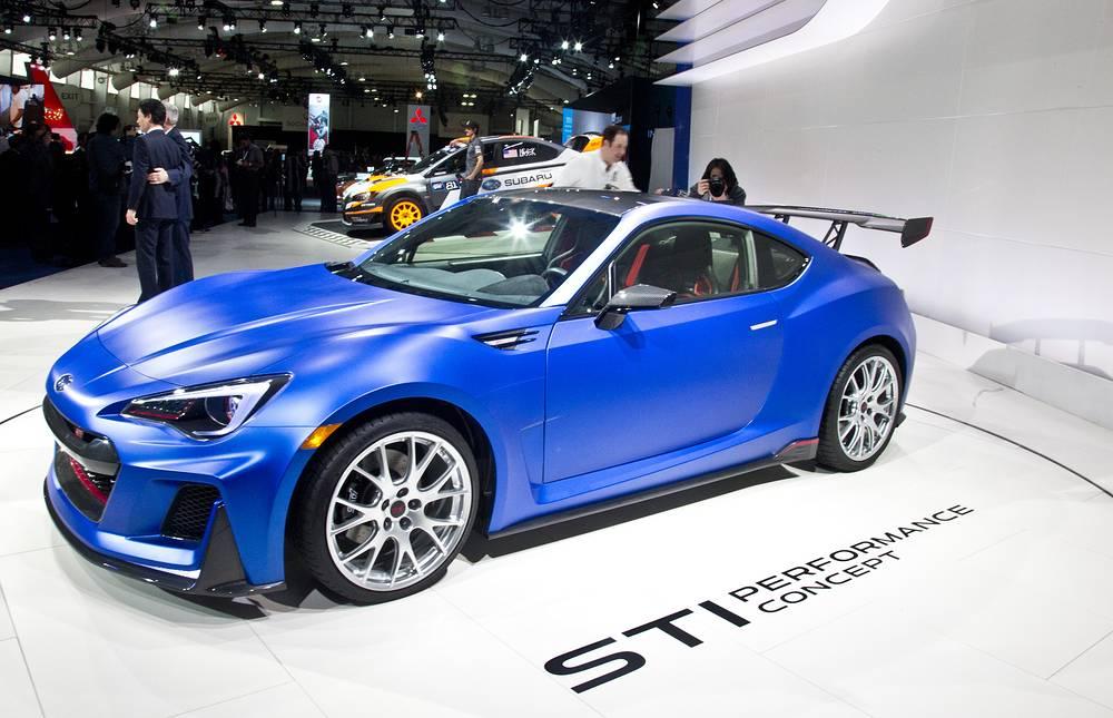 Subaru представила модель BRZ, доработанную легендарным подразделением Subaru Tecnica International (STI). Автомобиль имеет двухлитровый двигатель мощностью до 300 л.с.