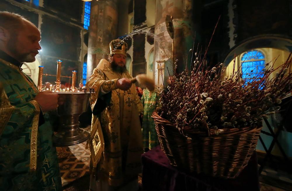 Празднование Вербного воскресения в Кинешме