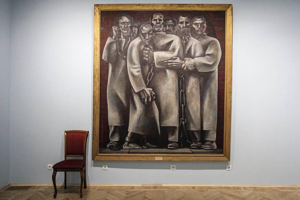 """Геннадий Мосин. """"Политические"""". Холст, масло. 1964 год"""
