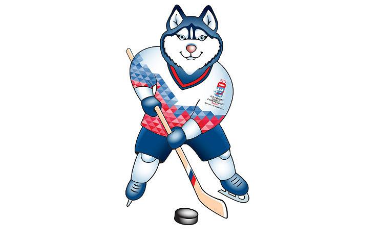 Официальный талисман чемпионата мира по хоккею 2016 года - Лайка. Автор - Наталья Петухова (Самара)