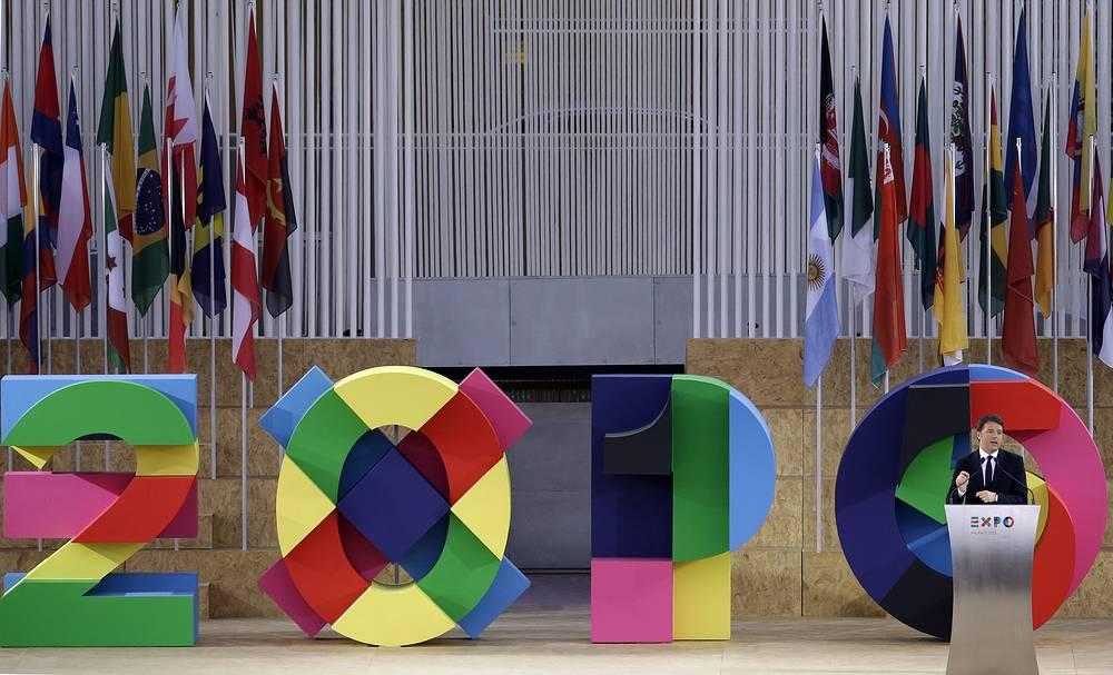 """""""Завтра начинается сегодня. Италия на ЭКСПО обнимает мир и приглашает мир попробовать Италию на вкус. Политика должна объявить войну бедности, а ЭКСПО стать местом агитации за мир во всех уголках планеты"""", - сказал глава итальянского правительства Маттео Ренци"""