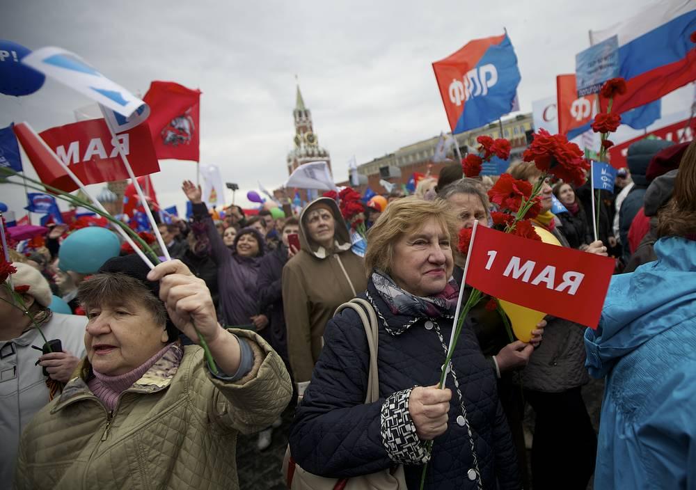 1 мая в городах России прошли многотысячные демонстрации