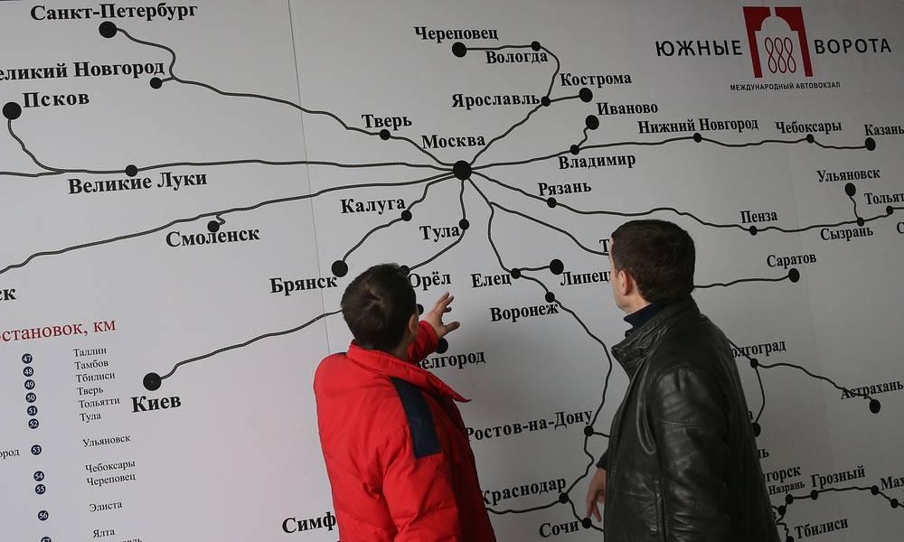 Карта в зале ожидания