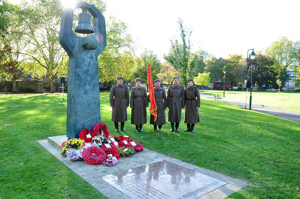 Памятник, посвященный гражданам СССР, погибшим в годы Второй мировой войны, в Лондоне