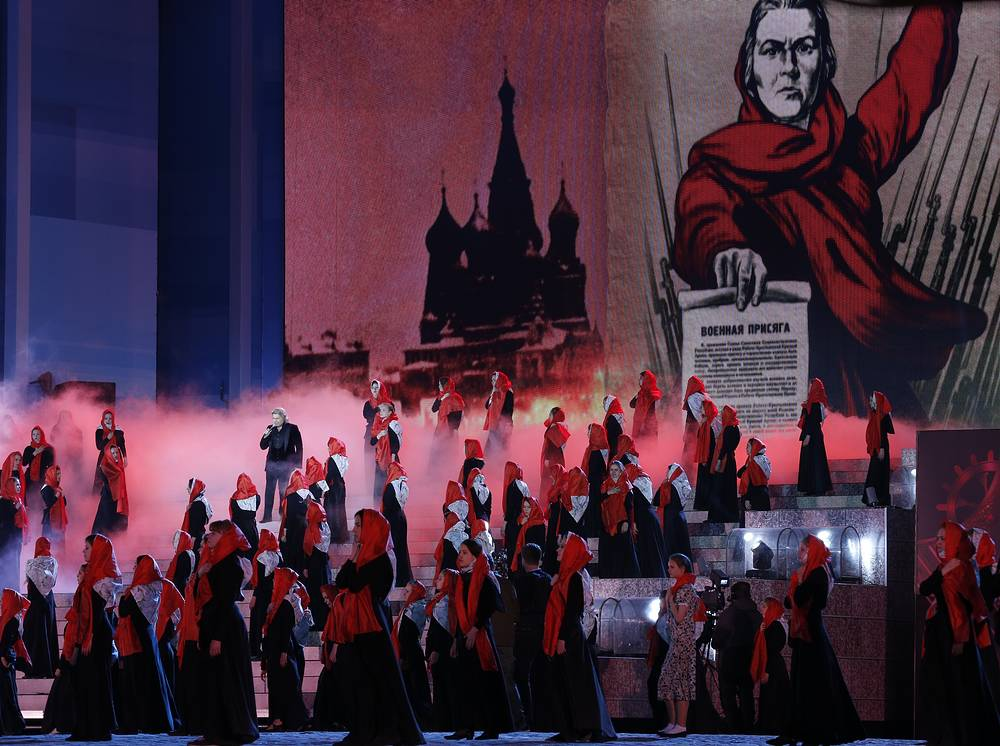 Участники праздничного концерта на Красной площади