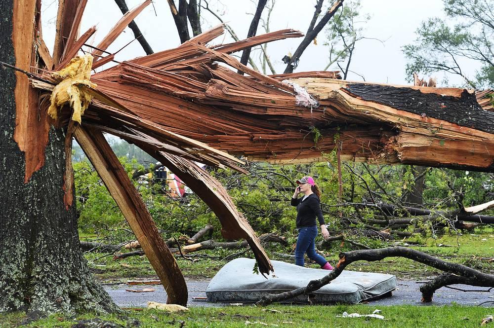 В городе Вэн в штате Техас из-за стихии пострадали 26 человек