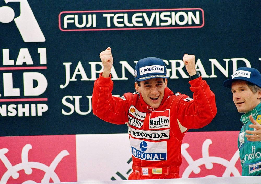 Прославленный бразильский пилот Айртон Сенна - рекордсмен по количеству поул-позиций подряд (8 - в сезонах 1988 и 1989 годов)