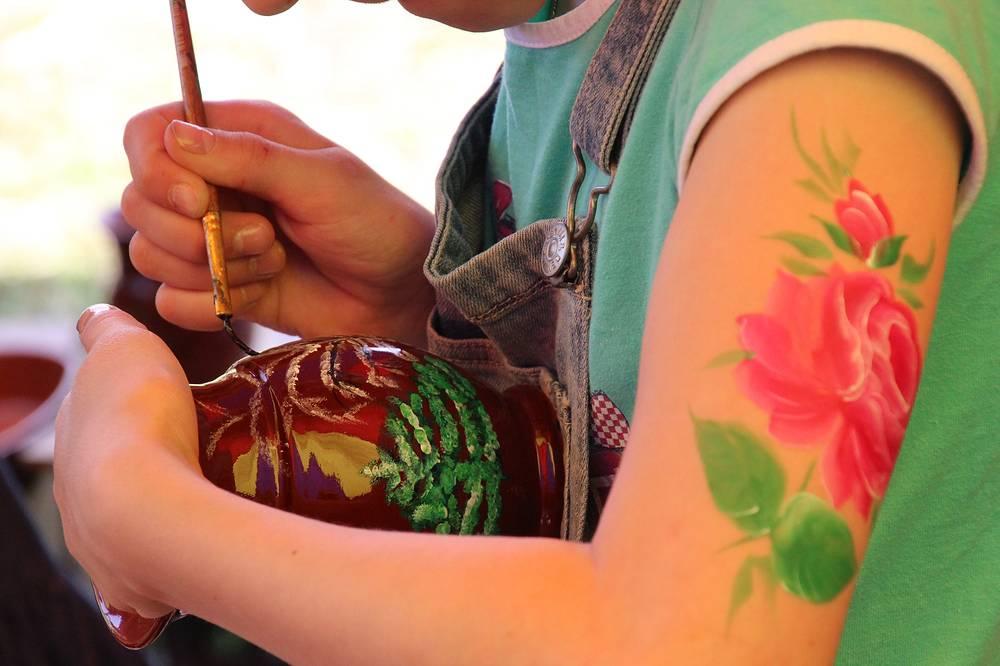Мастер-класс по тагильской росписи