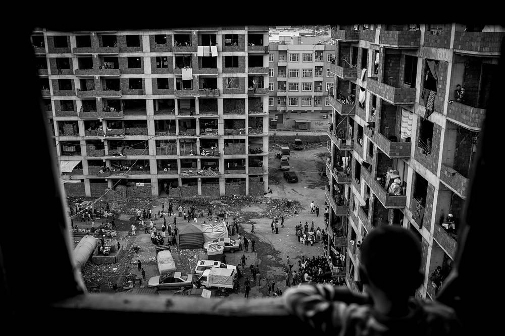 Поселения беженцев-езидов, спасающихся от геноцида в Синджаре в августе 2014 г. (г. Захо, Ирак). Серия фотографий