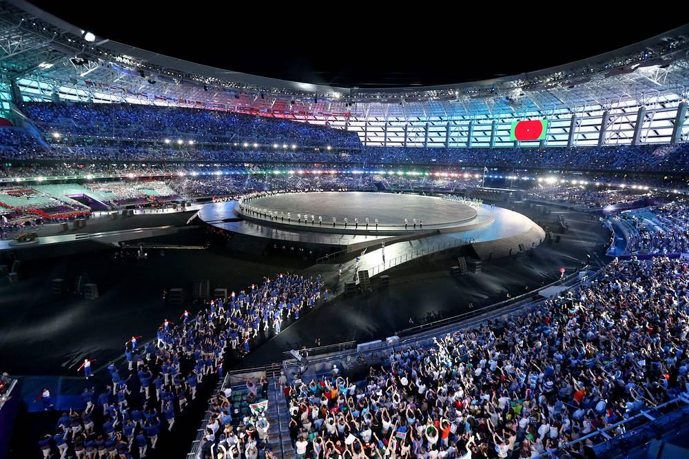 В Баку на Олимпийском стадионе состоялось открытие Первых Европейских игр, которые  пройдут с 12 по 28 июня. Всего будет разыграно 253 комплекта медалей в 20 видах спорта
