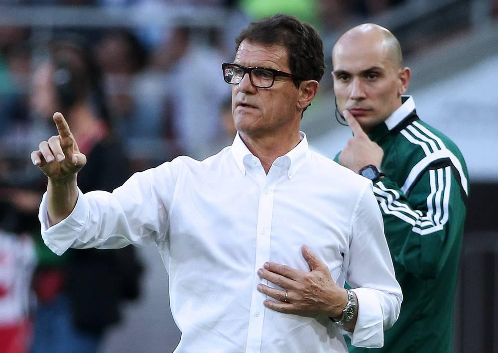 Главный тренер российской сборной Фабио Капелло во время матча с командой Австрии