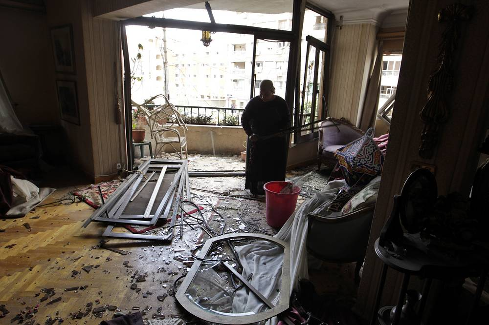 Взрывной волной серьезно повреждены фасады девяти многоквартирных строений