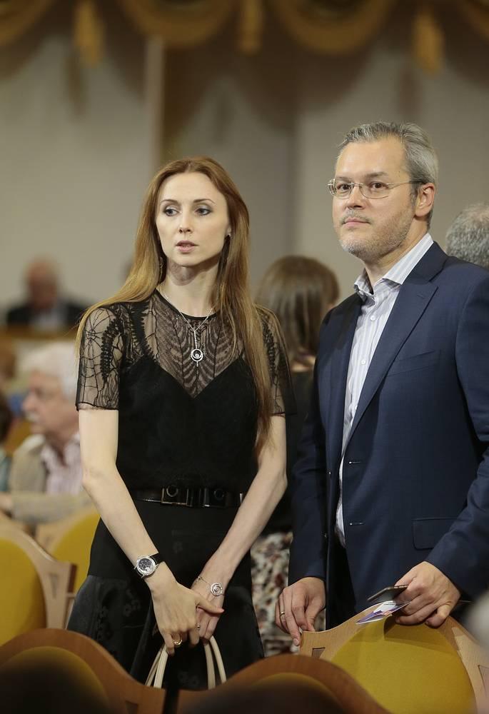 Прима-балерина Большого театра Светлана Захарова с супругом скрипачом Вадимом Репиным