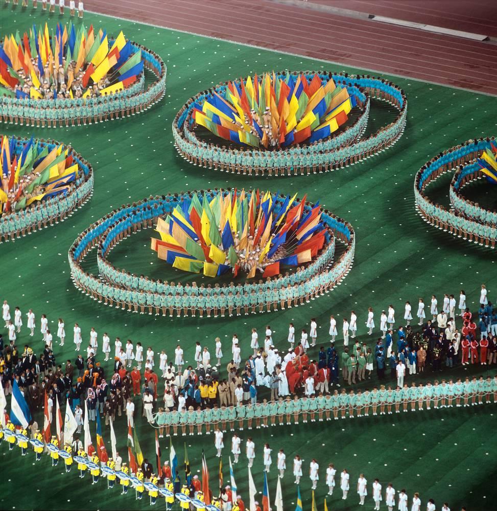 Всего на Олимпийских играх было разыграно 203 комплекта медалей в 21 виде спорта. На фото: закрытие Игр