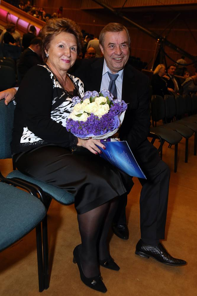 Селезнев с супругой Ириной на концерте в честь 80-летия оперной певицы Монтсеррат Кабалье в Государственном Кремлевском дворце, 2013 год