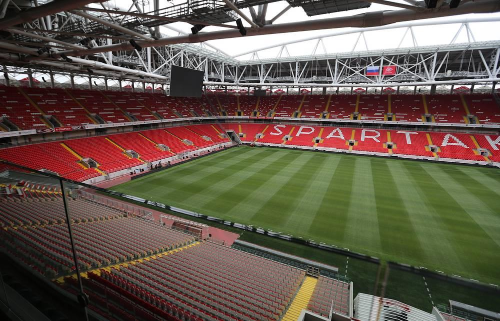 На стадионе уже прошло два официальных матчах сборной России, в которых национальная команда не смогла одержать ни одной победы. В октябре 2014 года россияне сыграли вничью с командой Молдавии (1:1), а в июне 2015 года потерпели поражение от австрийцев (0:1)