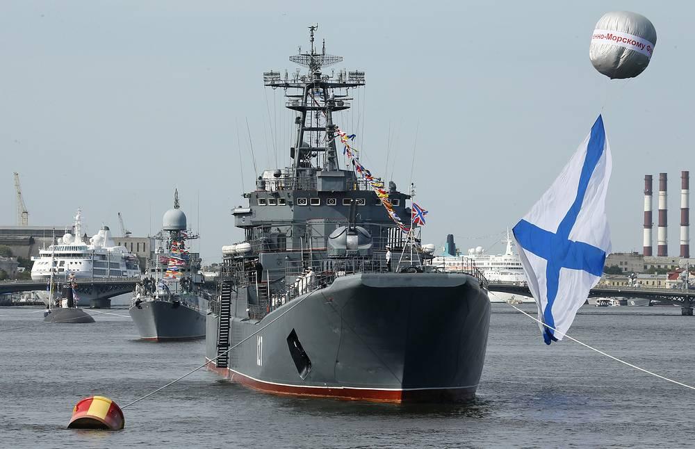 Военные корабли на Неве, Санкт-Петербург