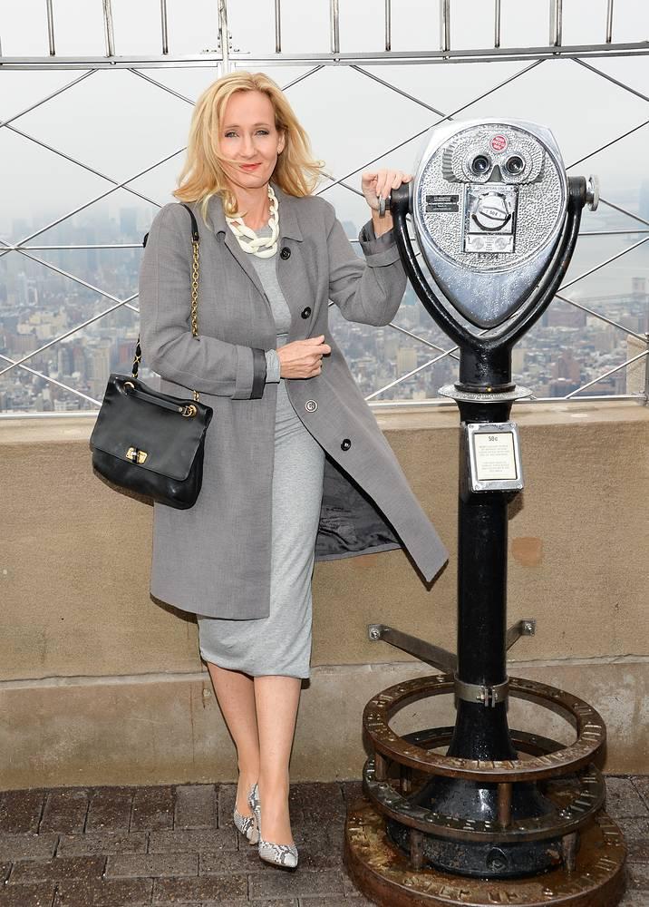Джоан Роулинг во время открытия благотворительной организации Lumos в Эмпайр-стейт-билдинг, Нью-Йорк, 2015 год
