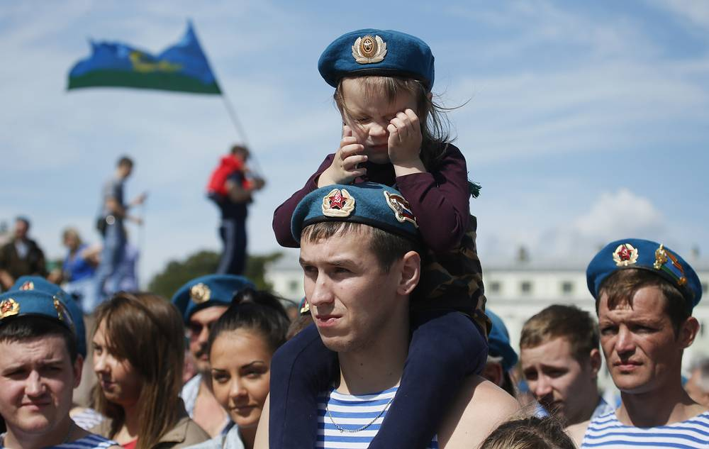 Празднование Деня десантника в Санкт-Петербурге