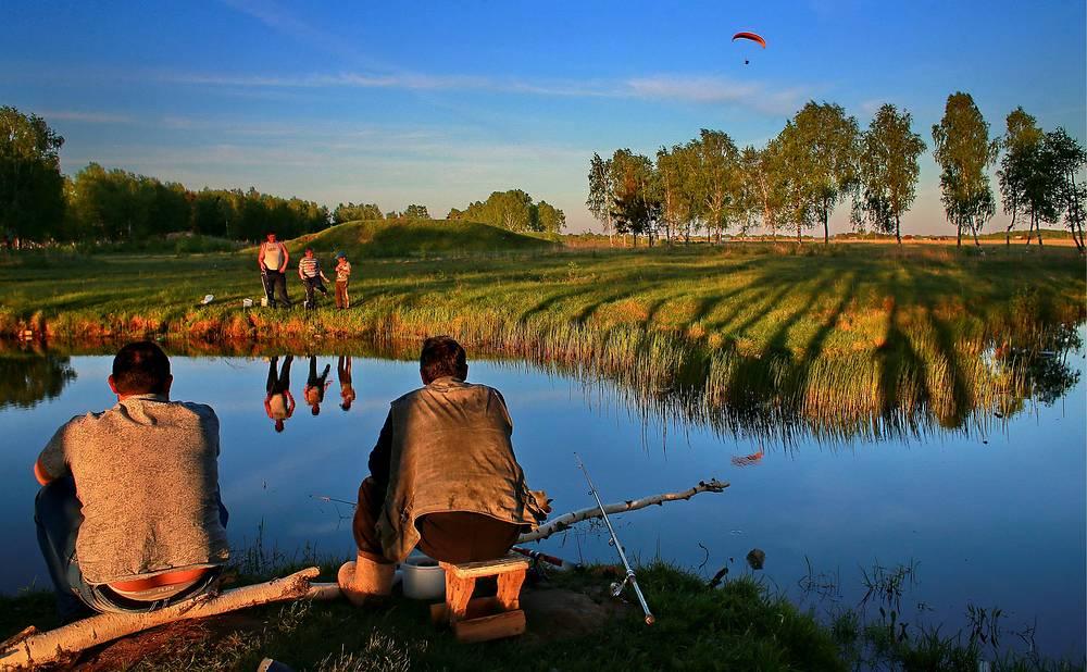 Иваново. Отдыхающие на озере