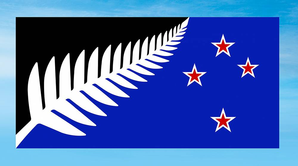 Silver Fern (Black, White and Blue)