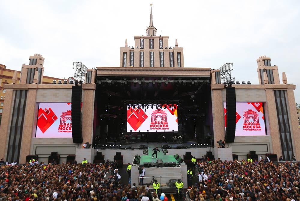 Концерт, посвященный празднованию Дня города, на Лубянской площади