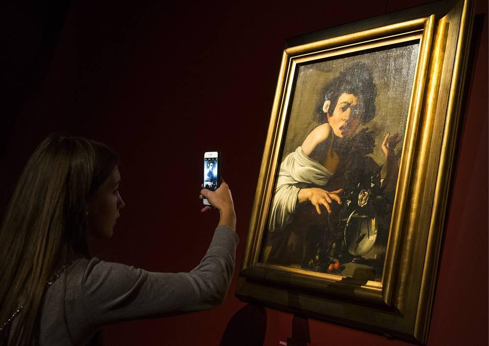 """Картина """"Мальчик, укушенный ящерицей"""" художника Микеланджело Меризи да Караваджо"""