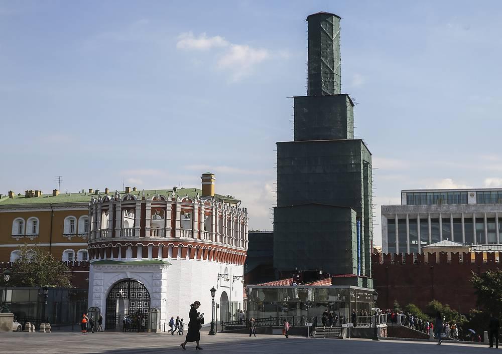 Комплексная реставрация Троицкой башни Московского Кремля.