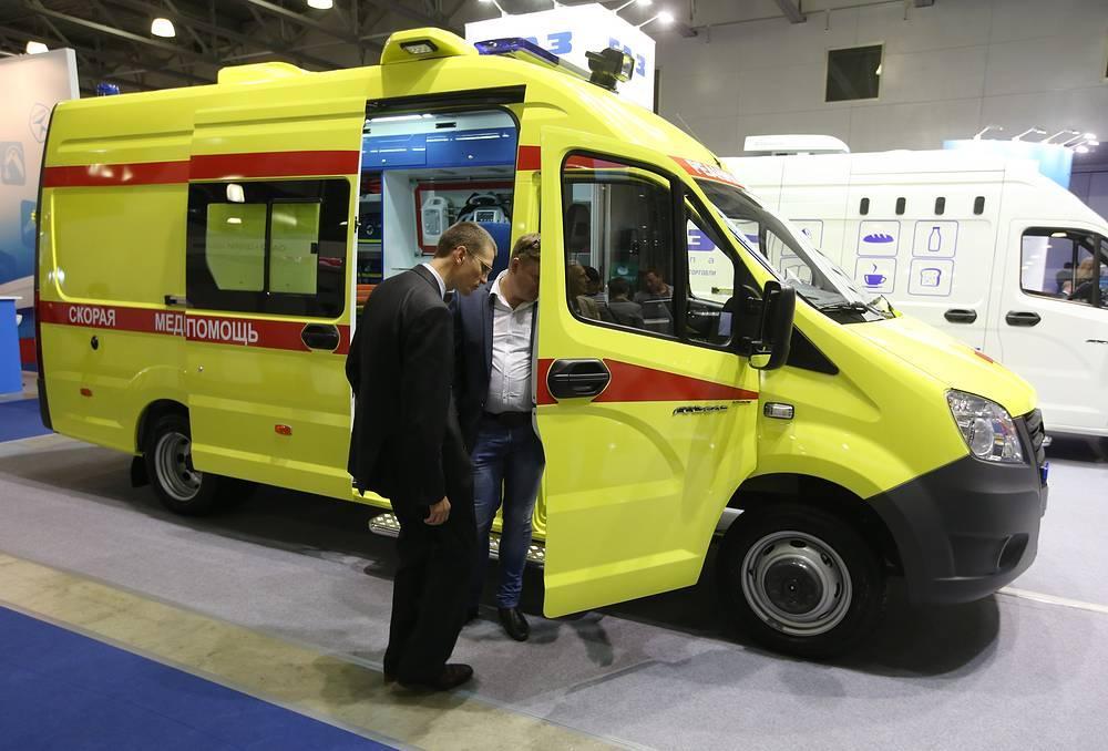Один из экспонатов: автомобиль скорой медицинской помощи на базе ГАЗ