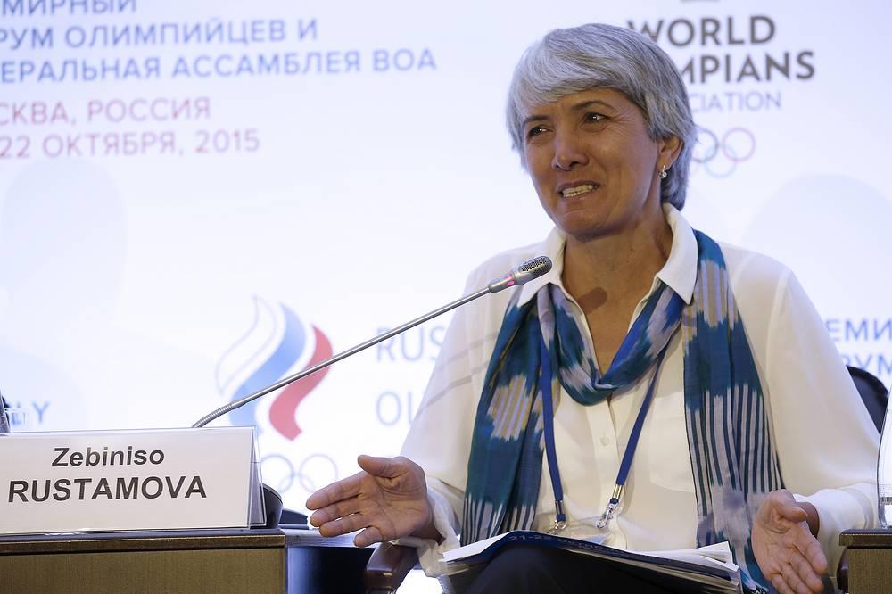 Спортсменка Зебунисо Рустамова на I форуме Всемирной ассоциации олимпийцев