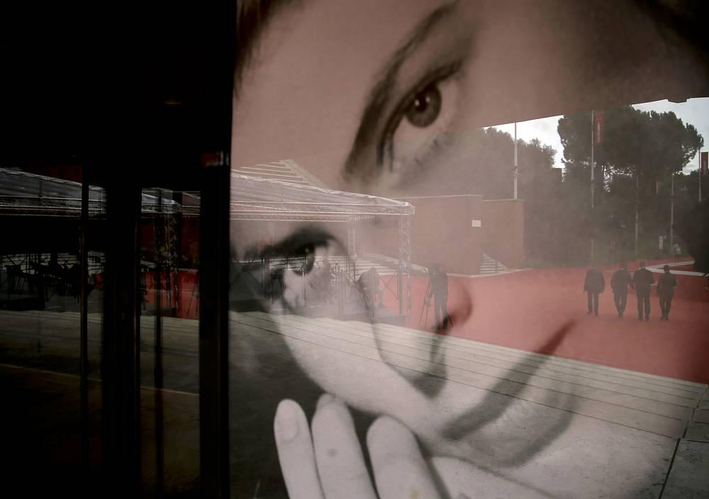 Плакат с изображением Ингрид Бергман на кинофестивале в Риме, 21 октября