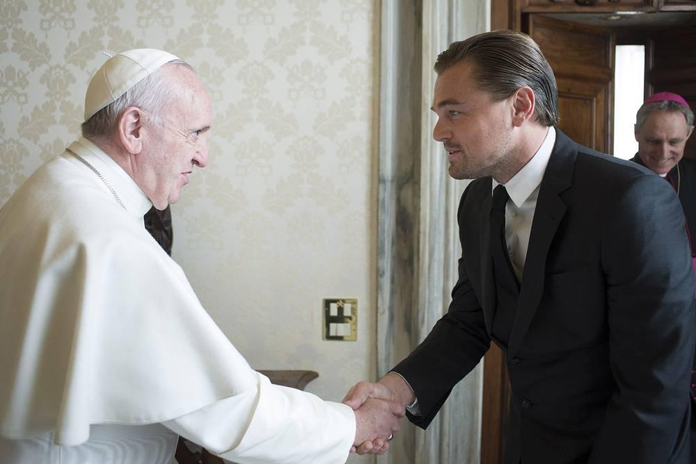 Папа римский Франциск и актером Леонардо Ди Каприо
