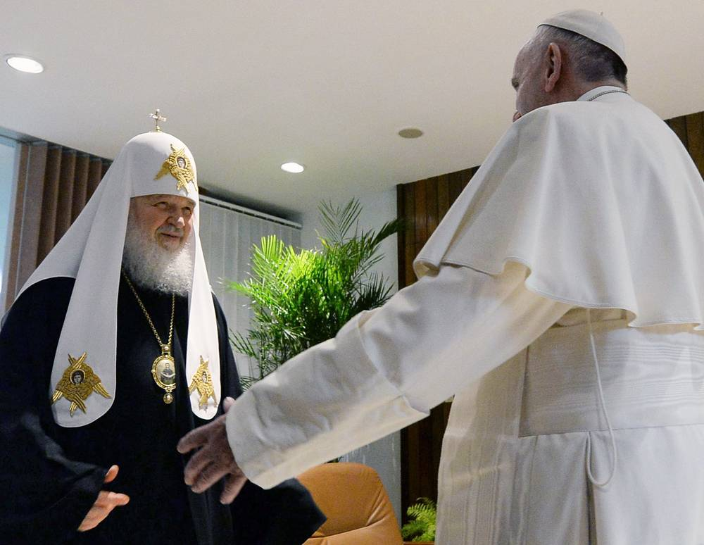Встреча папы римского Франциска и патриарха Московского и всея Руси Кирилла