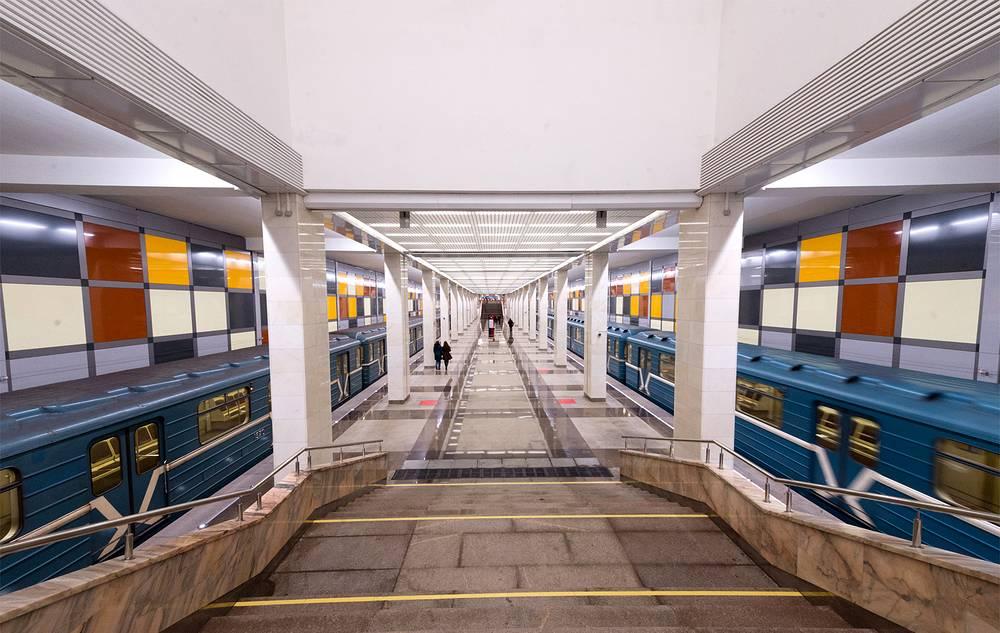 """""""Саларьево"""" - колонная станция островного типа, то есть станция с одной платформой и двумя путями по бокам. Длина платформы - 162 метра, ширина - 12 метров"""