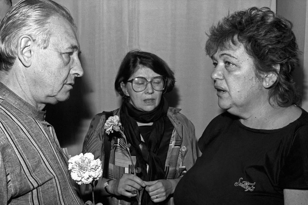 """С режиссером театра """"Современник"""" Галиной Волчек (справа), 1987 год"""