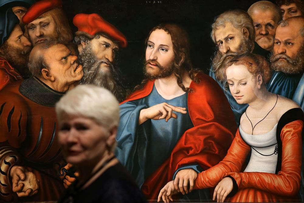 """Христос и грешница"", Лукас Кранах Старший"
