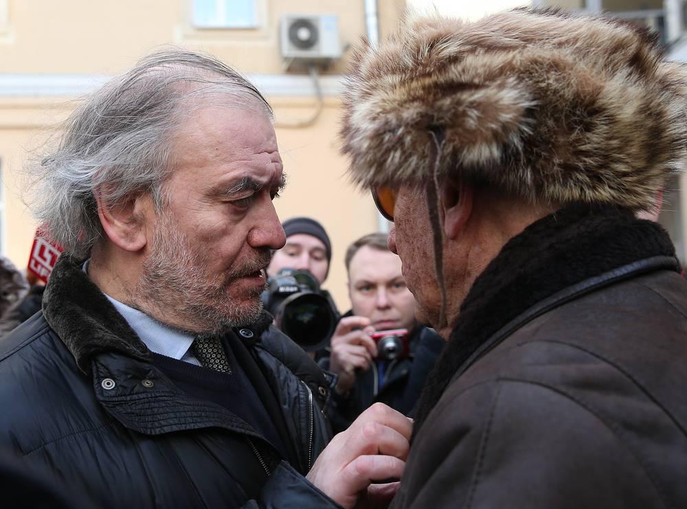 Художественный руководитель Мариинского театра, дирижер Валерий Гергиев и композитор Родион Щедрин (слева направо)