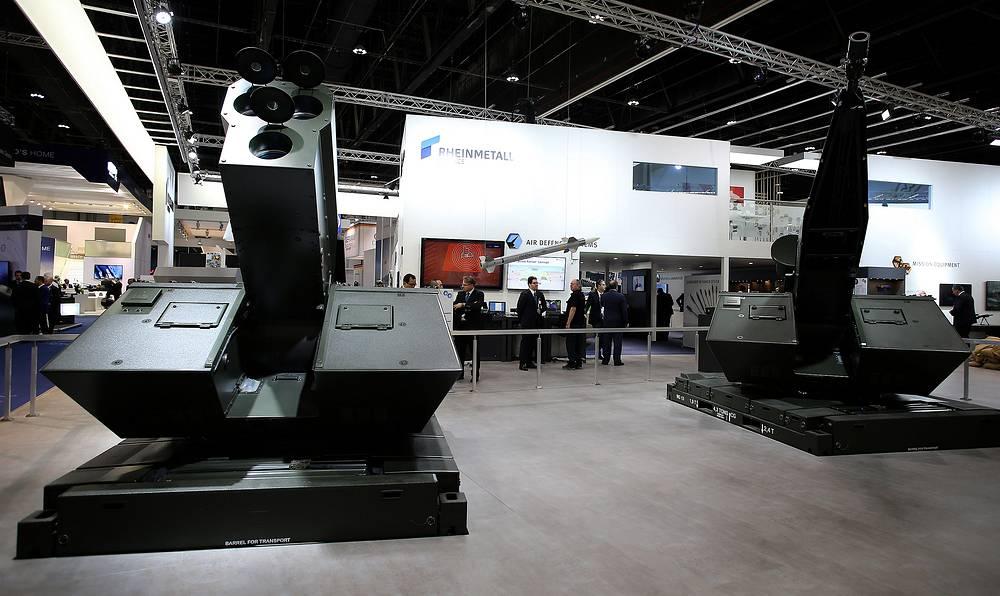 Стенд Rheinmetall на выставке IDEX в Абу-Даби