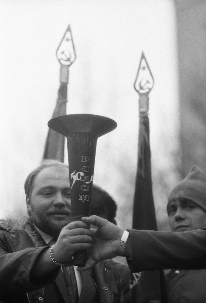 Церемония посвящения первокурсников в журналисты,1987 год