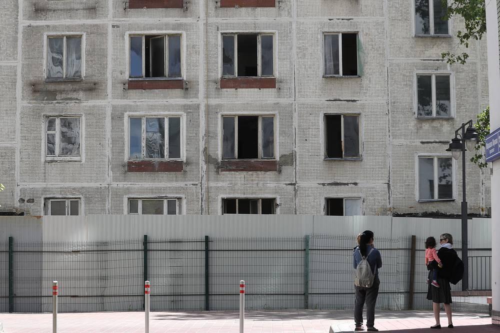 Пятиэтажка серии К-7 перед сносом на проспекте Маршала Жукова в районе Хорошево-Мневники