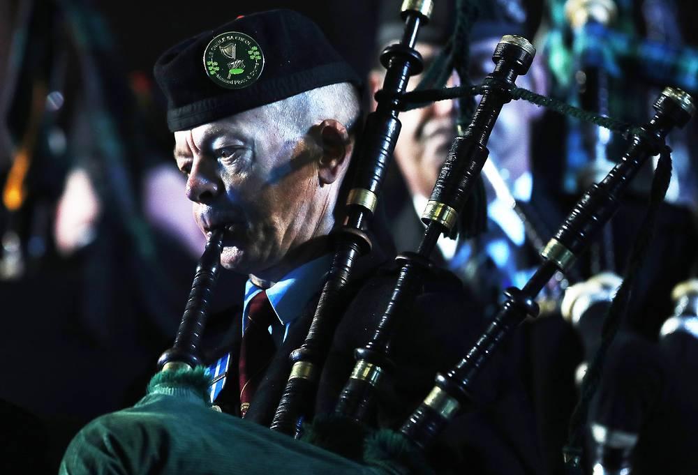 Участник Кельтского оркестра волынок и барабанов