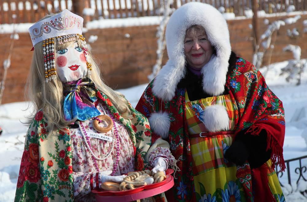 Празднование Масленицы в Якутске