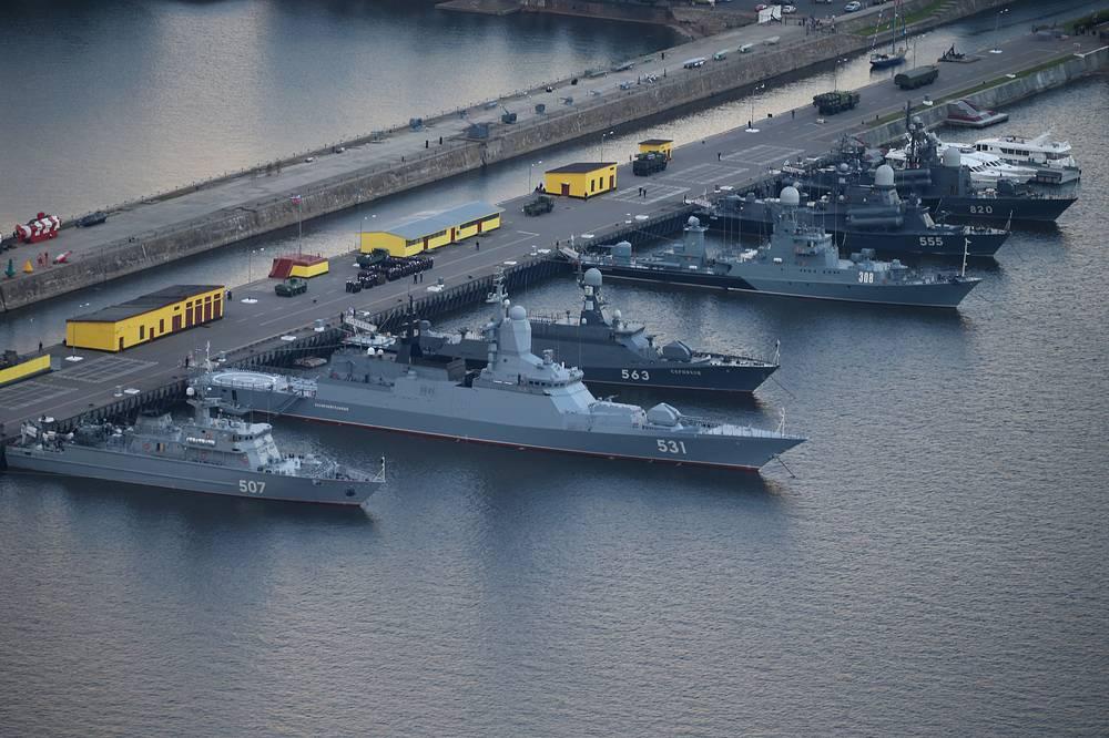 Корабли на Ленинградской военно-морской базе
