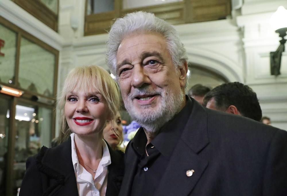 Певица Валерия и оперный певец Пласидо Доминго