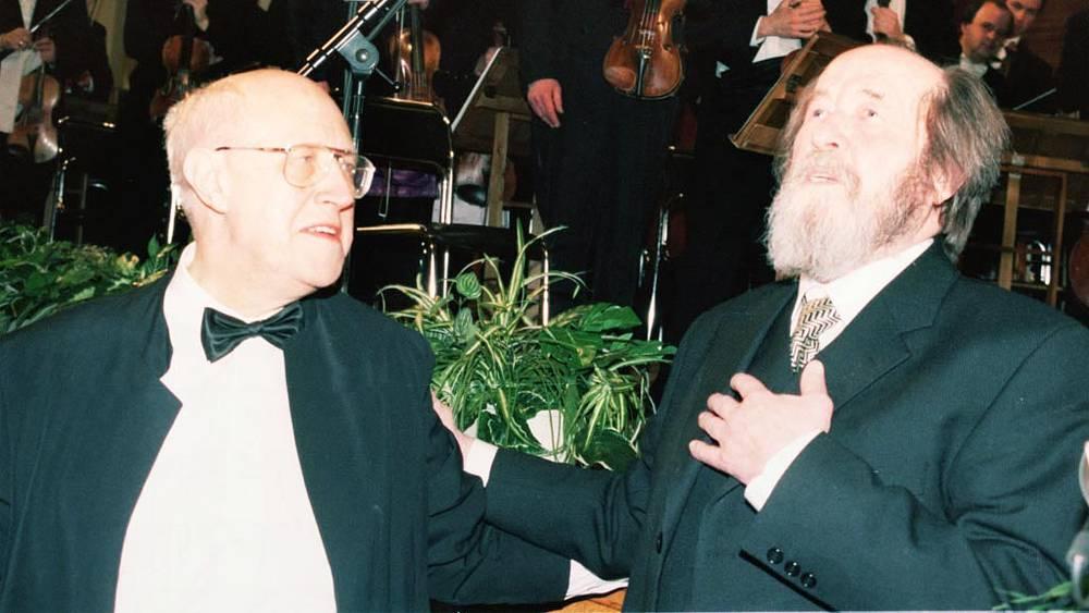 Мстислав Ростропович и Александр Солженицын, 1998 год