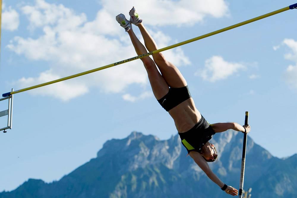 Алана Бойд (Австралия) - первое место в прыжках в высоту (4,51)